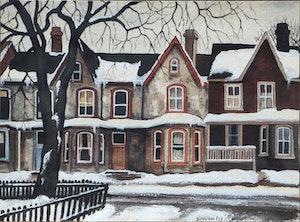 Artwork by John Kasyn, Montague St