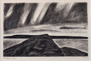 Artwork by Thoreau MacDonald, Northern Lights (and four drawings)