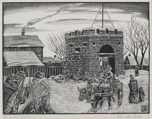 Artwork by Henry Eric Bergman, The Old Gate