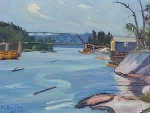 Artwork by Ralph Wallace Burton, Bay Scene