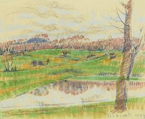 Artwork by Joseph Francis Plaskett, Summer Landscape