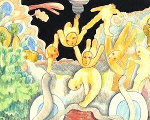 Artwork by Louis de Niverville, Whimsical Scene