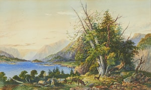 Artwork by William Nicoll Cresswell, The Saguenay River, Quebec