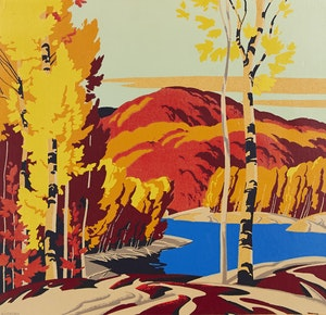 Artwork by Alfred Joseph Casson, Lake in Fall