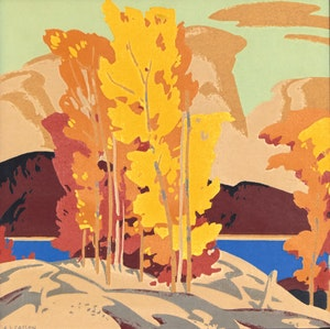 Artwork by Alfred Joseph Casson, Trees In Fall