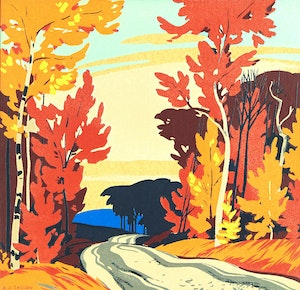Artwork by Alfred Joseph Casson, Fall Roadway