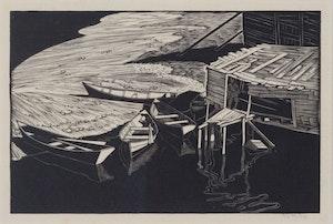 Artwork by Walter Joseph Phillips, Snake Island