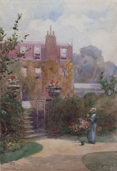 Artwork by Frederic Marlett Bell-Smith, Garden at Gad's Hill