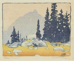 Artwork by Walter Joseph Phillips, Alpine Meadow