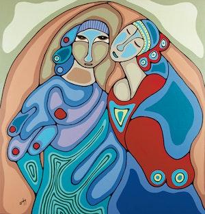 Artwork by Daphne Odjig, The Joy of Intimacy