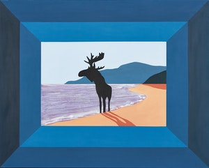 Artwork by Charles Pachter, Prelude to the Afternoon of a Moose, L'apres midi d'un orignal (Baie-St-Paul, Quebec)