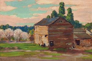 Artwork by Frank Hans Johnston, The Old Barn
