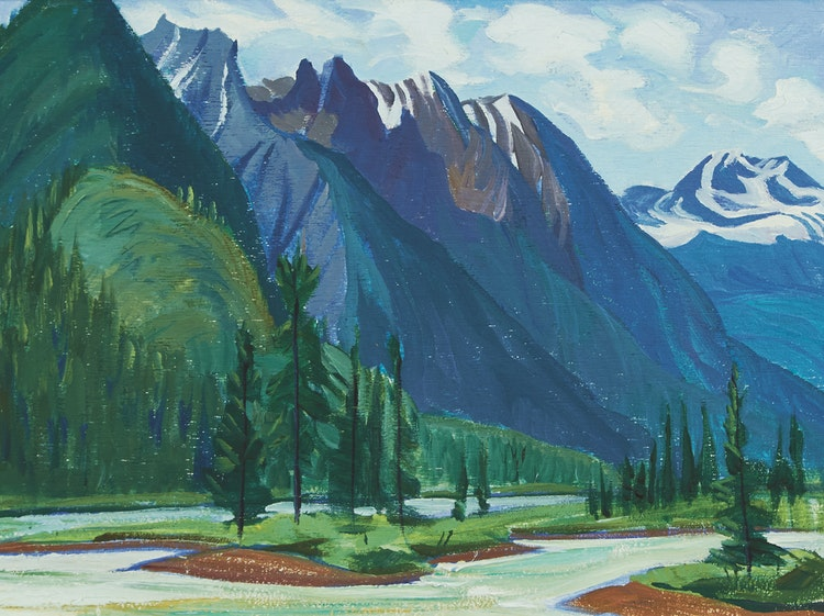 Artwork by Doris Jean McCarthy,  Athabaska River, North of Jasper