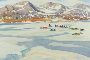 Artwork by Doris Jean McCarthy, Packing for the Canoe Trip, 1981