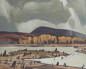 Artwork by Alfred Joseph Casson, Bark Lake