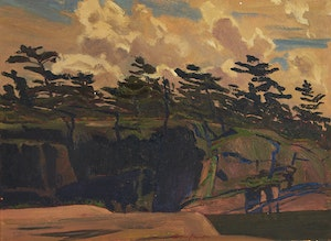 Artwork by Charles Fraser Comfort, Shoreline, Georgian Bay