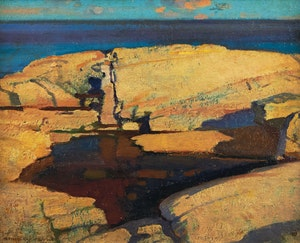 Artwork by Stanley Royle, Peggy's Cove, 1939