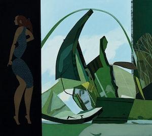 Artwork by Ivan Kenneth Eyre, Green Ledge, 1972
