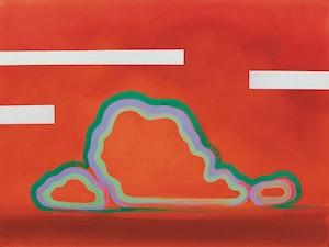 Artwork by Wanda Koop, Green Zone (Brilliant Orange, White Interference), 2006