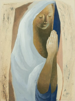 Artwork by Grant Kenneth MacDonald, Figure in Prayer