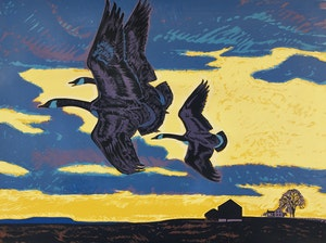 Artwork by Thoreau MacDonald, Wild Geese
