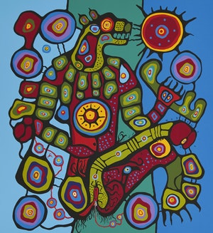 Artwork by Norval Morrisseau, Bear