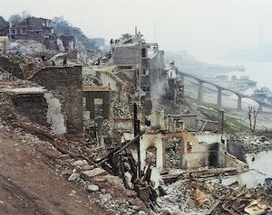 Artwork by Edward Burtynsky, Three Gorges Dam Project, Wan Zhou #2, Yangtze River, China 2002