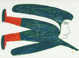 Artwork by Jessie Oonark, Flying Woman