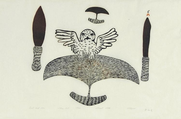 Artwork by Ulayu Pingwartok,  Owl and Ulu