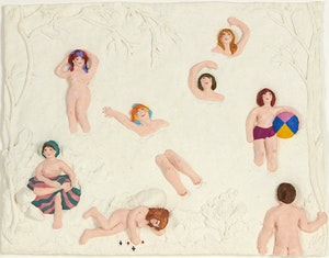 Artwork by Betty Davison, The Bathers Discovered