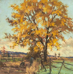 Artwork by Berthe Des Clayes, The Golden Elm