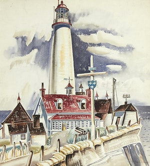 Artwork by Bobs Cogill Haworth, Quebec Lighthouse