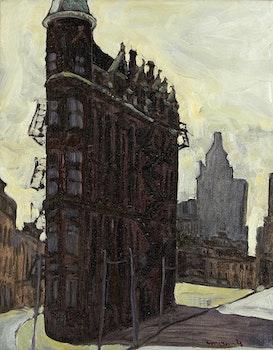 Artwork by Robert Francis Michael McInnis, Flatiron Building, Toronto