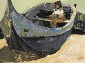 Artwork by John Adrian Darley Dingle, Play Boat