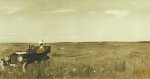 Artwork by Jean-Paul Lemieux, La Petite Poule D'Eau