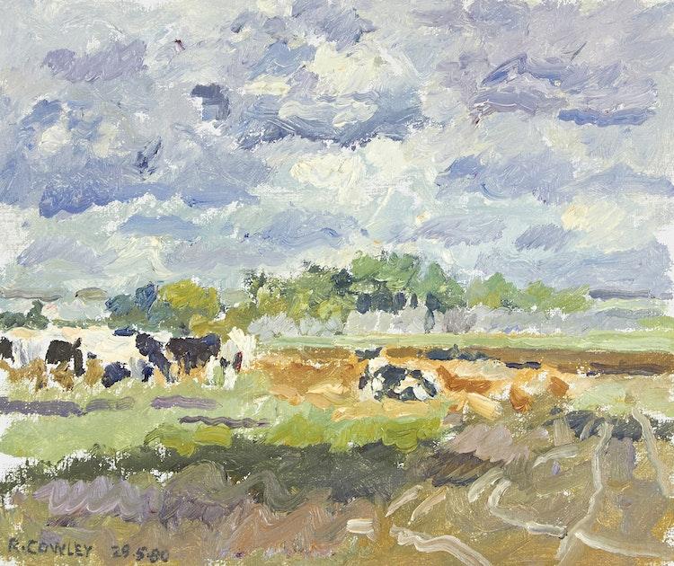 Artwork by Reta Madeline Cowley,  Pasture, Warman Area