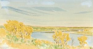 Artwork by Robert N. Hurley, Saskatchewan River