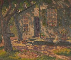 Artwork by Thomas Albert Stone, Sitting in the Garden