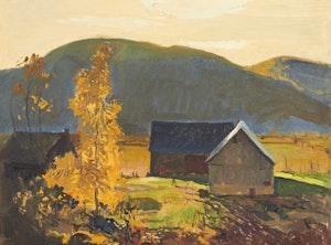 Artwork by George Franklin Arbuckle, Farm in Fall