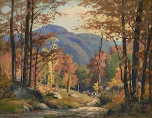 Artwork by Frederick Henry Brigden, Autumn, Eastern Township, Que.