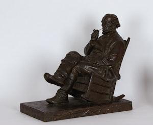 Artwork by Marc-Aurèle de Foy Suzor-Coté, Le vieux pionnier canadien