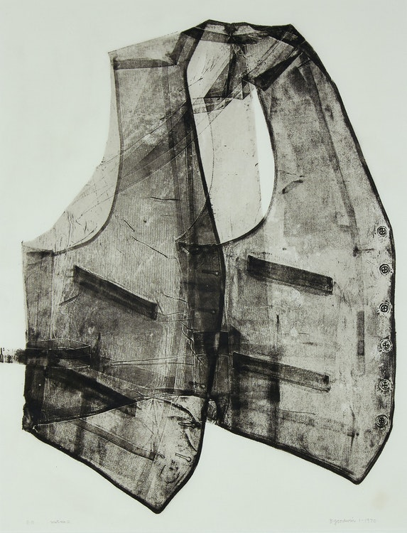 Artwork by Betty Roodish Goodwin,  Vest No. 2