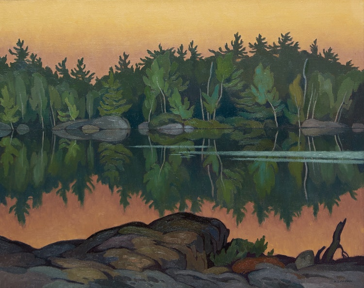 Artwork by Alfred Joseph Casson,  Afterglow, Moose Lake
