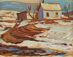 Artwork by Alexander Young Jackson, Ripon on the Road to Chenville, Quebec
