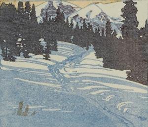 Artwork by Walter Joseph Phillips, Trail from Skoki