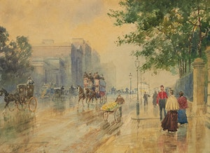 Artwork by Frederic Marlett Bell-Smith, Hyde Park Corner