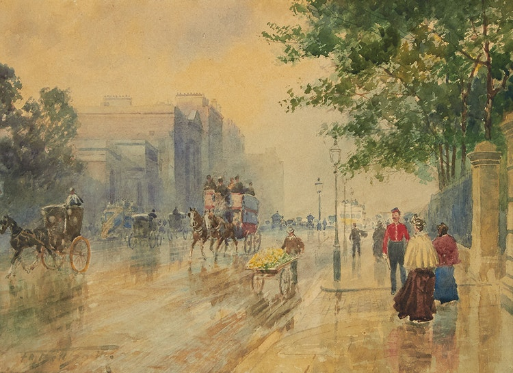 Artwork by Frederic Marlett Bell-Smith,  Hyde Park Corner