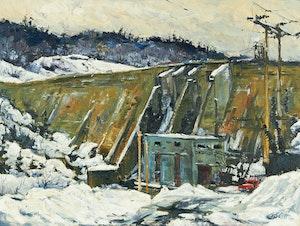 Artwork by Guttorn Otto, The Gartshore Dam