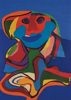 Artwork by Karel Appel, Self-Portrait