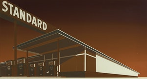 Artwork by Edward Ruscha, Mocha Standard